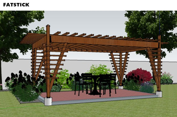 Architect designed home and garden products construction for Parts of a pergola